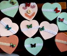 cajas corazon menta craft